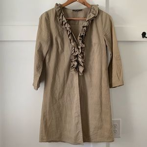 3/$12 Theme Beige Button Front Tunic/Coverup